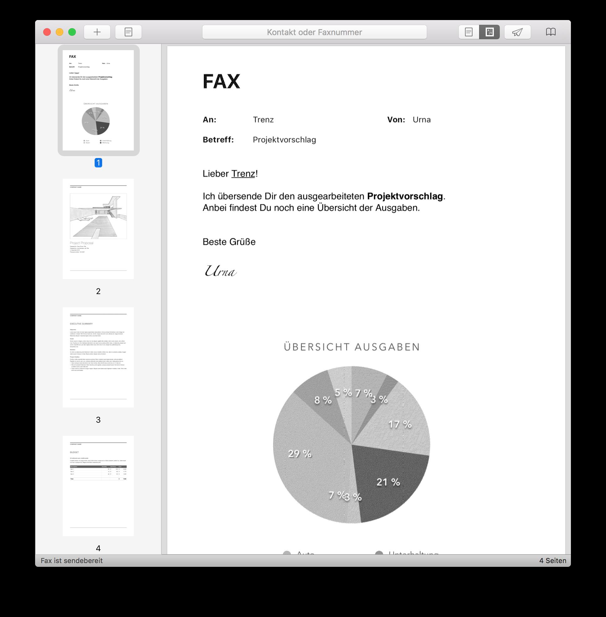 Faxbot Fax Versenden Am Mac Per Fritzbox